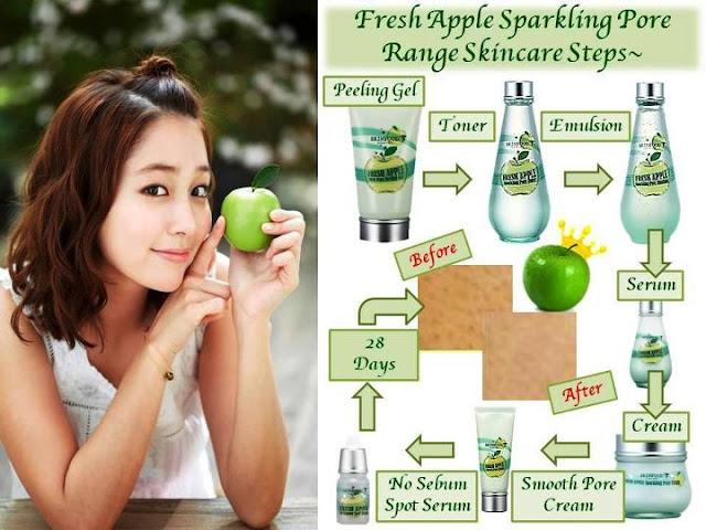 Skin+Food+Fresh+Apple+4 FRESH APPLE SPARKLING SMOOTH PORE CREAM