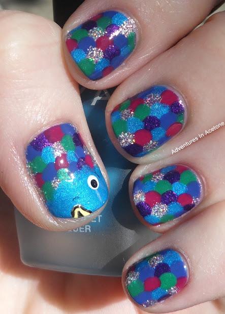 day 2 rainbow fish nails - adventures