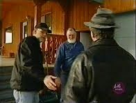 IMAGES FROM THE UFO TV DOCUMENTARY MAGNIFICENT OBSESSIONS. BRIAN VIKE, CHRIS RUTKOWSKI, AND GORDON.