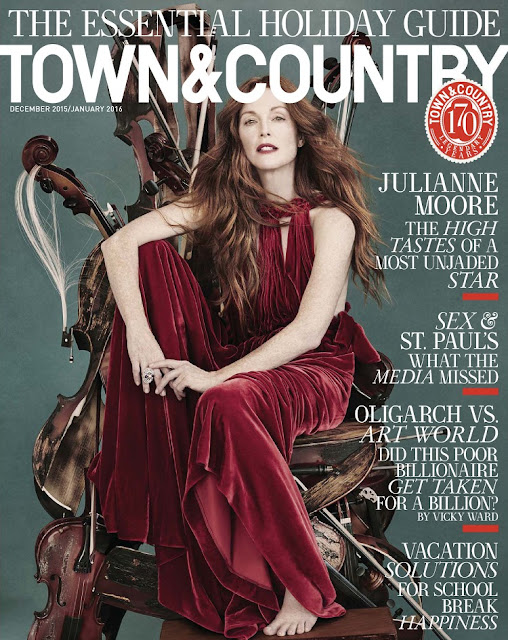 Actress @ Julianne Moore - Town & Country USA, December/January 2016