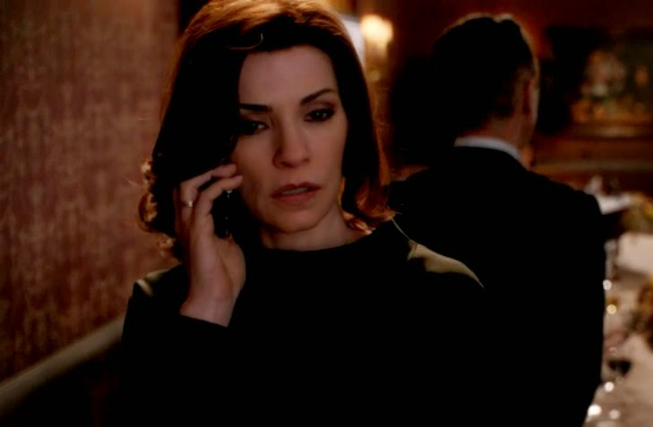 The Good Wife Alicia Florrick Will's death phone call photos pictures screencaps