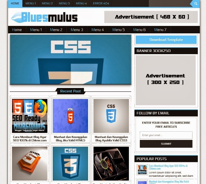Bluesmulus Blogger Template