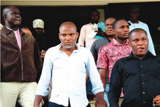 Biafra: Drama In Court As Nnamdi Kanu's Brother Excuses Lawyer From Court Room