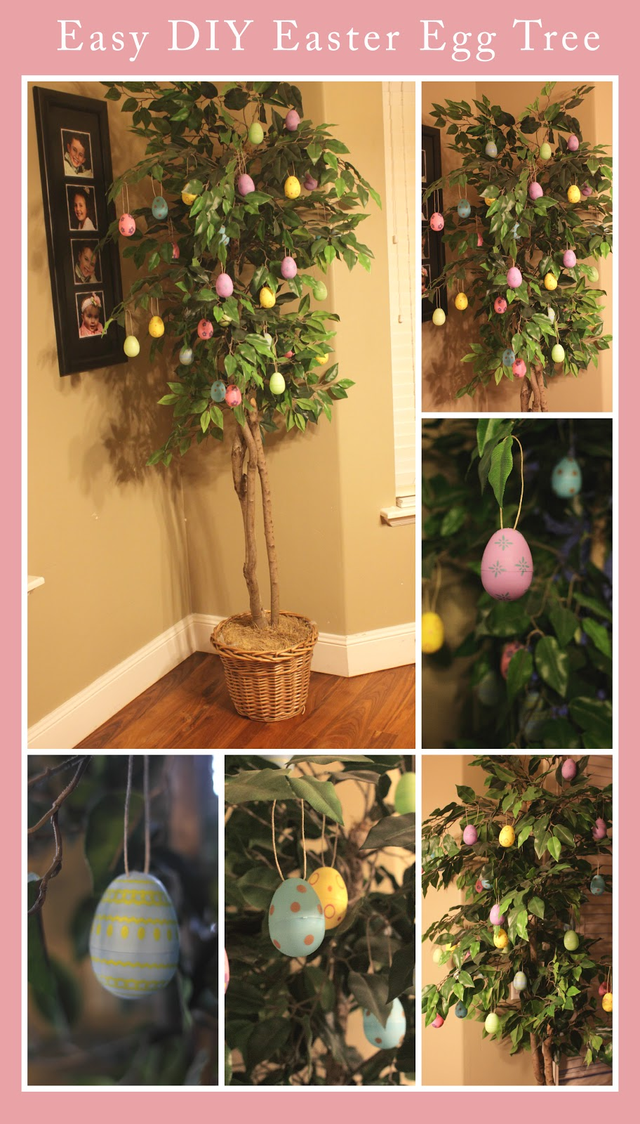 Easy diy easter egg ornament tree a sparkle of genius How to make an easter egg tree