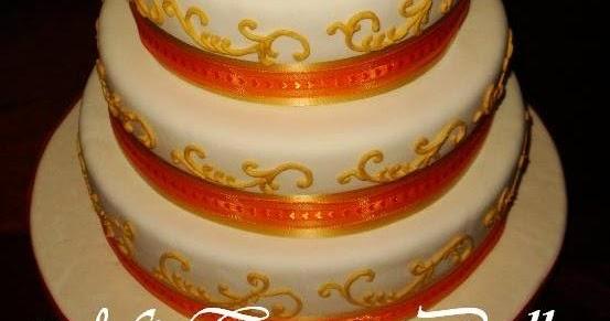 Mi Torta Bella: Torta de Cumpleaños - Perla, Oro y Naranja