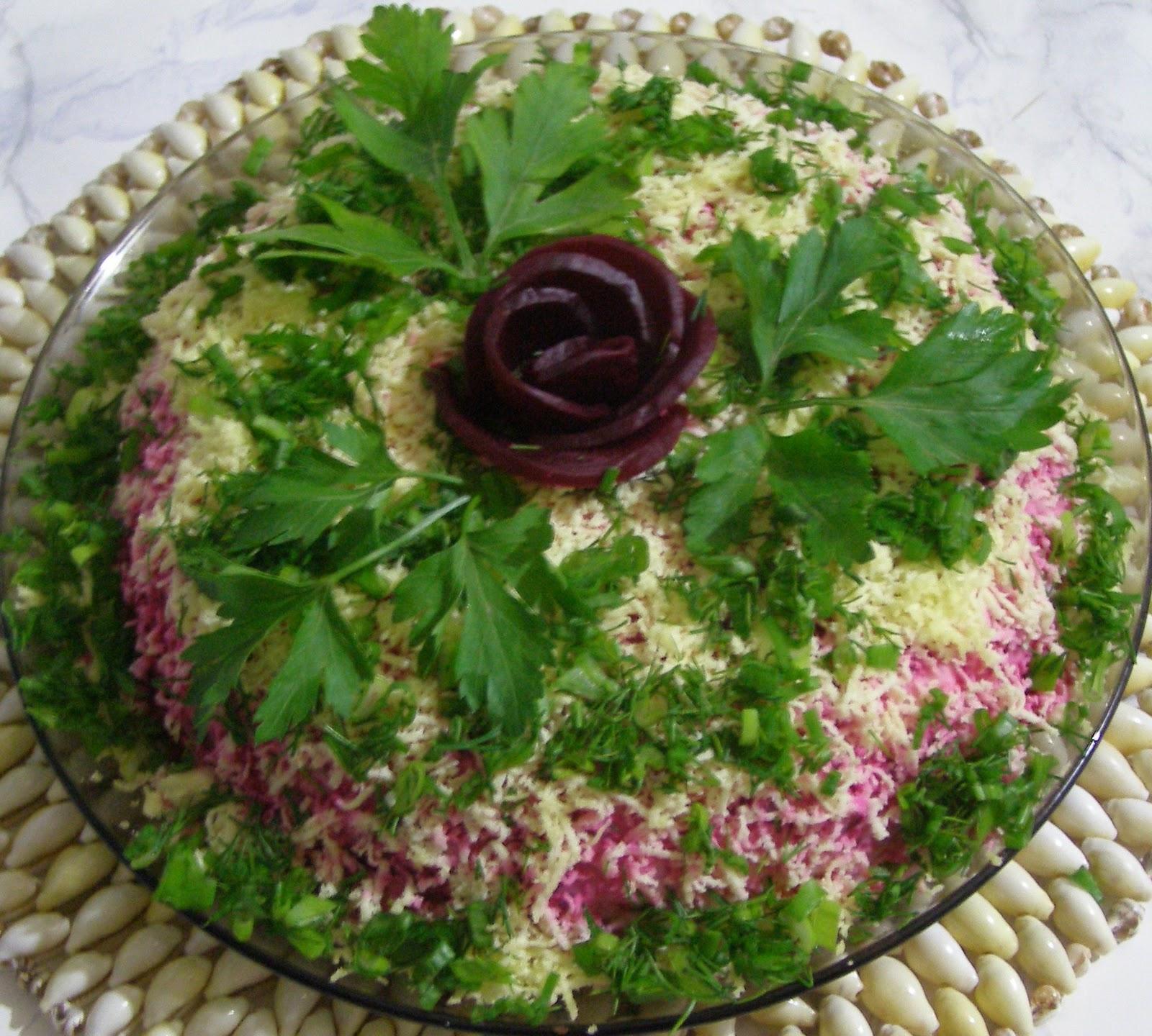 Салат пион пошаговый рецепт с фото