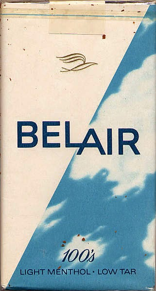 Pack of Belair ciggerettes