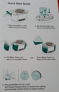 Honeywell Top Fill Console Humidifier quick set up instructions