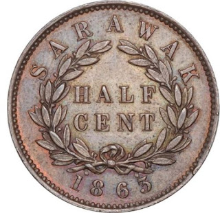 Sarawak Coins Half Cent