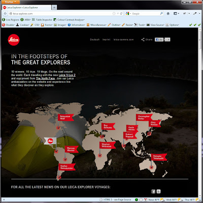 Screen shot of http://leica-explorer.com/.