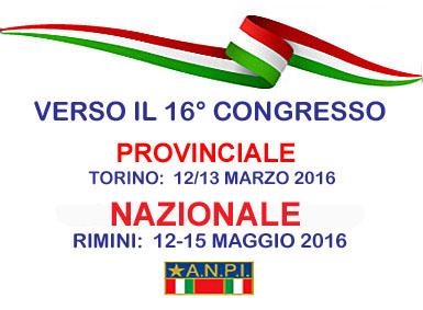 XVI CONGRESSO SEZIONE A.N.P.I. GRUGLIASCO: 16/01/2016 h 14.30-18.30