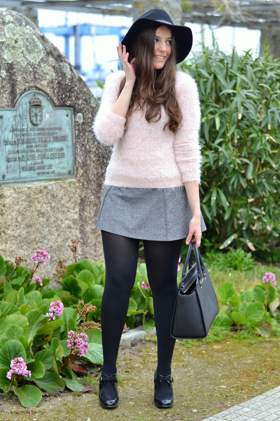 outfits pink & grey