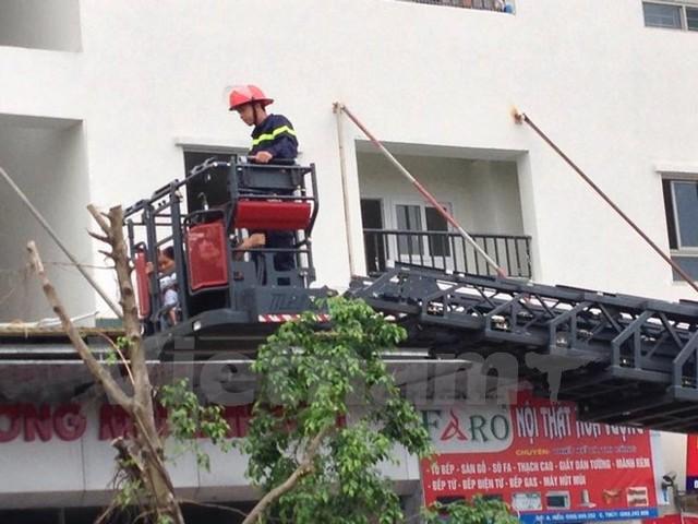 Cháy chung cư HH4A Linh Đàm