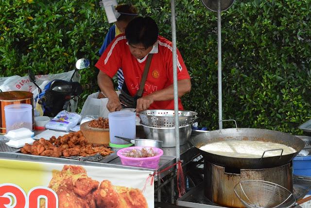 Wat Puttamongkon temple Phuket Town food