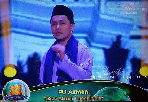 Entry blog Denaihati jadi rujukan Pencetus Ummah PU Azman, kajian remaja solat sembahyang, dakwah tazkirah Mimbar Akhir Pencetus Ummah S2 tahun 2014, Denaihati blogger inspirasi, kajian remaja Islam Malaysia solat 5 waktu