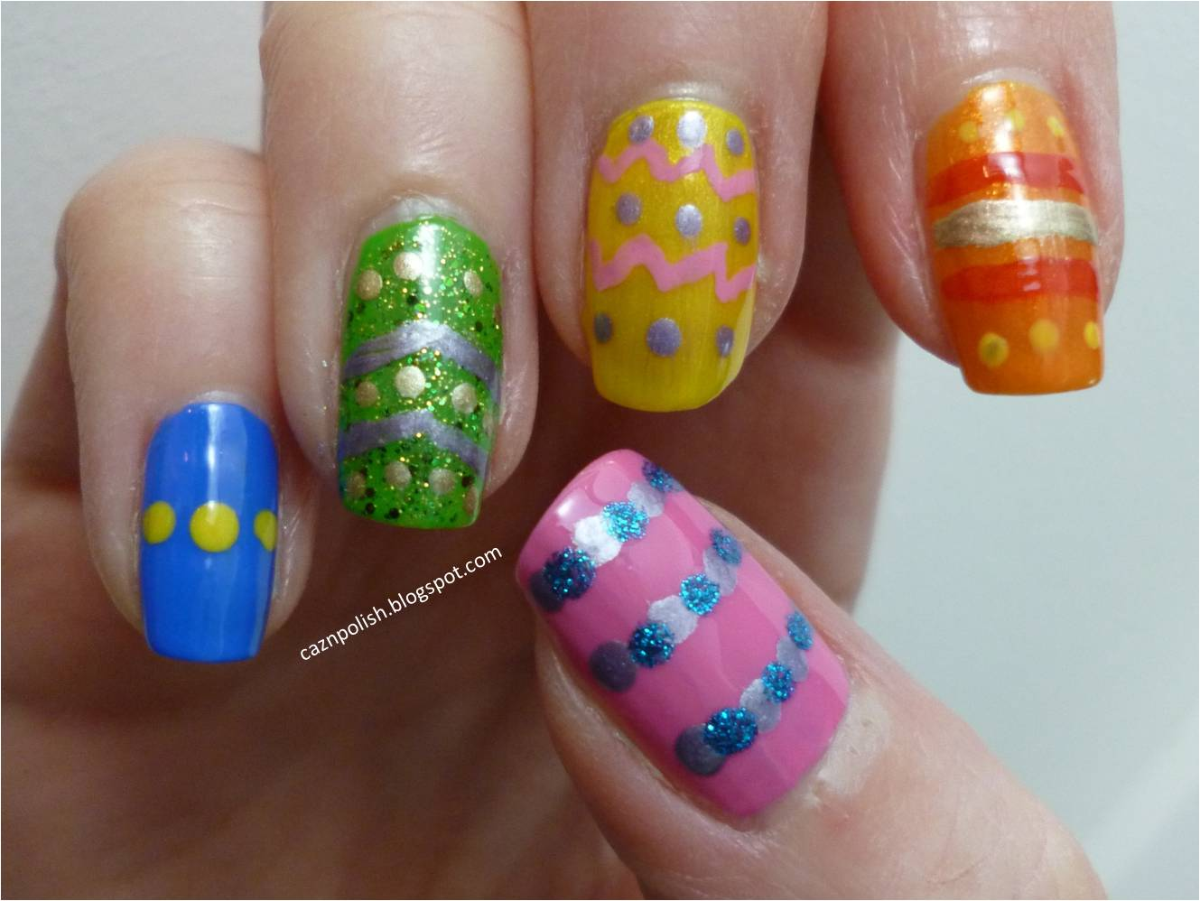 caz 'n' polish | Easter Egg Nails