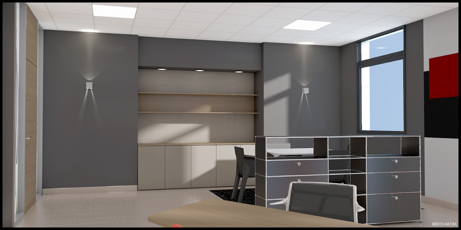 Am nagement 3d bureau dg akom design - Amenagement bureau ...
