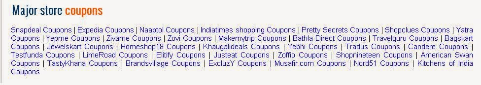 Shoppal.in major store coupons
