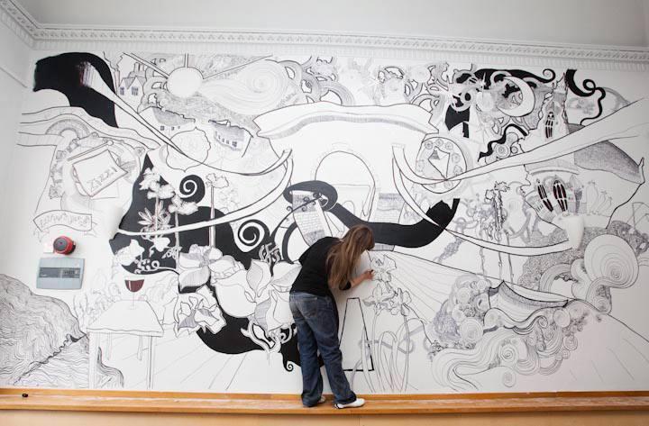 disegni sui muri di casa. latest con disegni fatti a mano with ... - Disegni Su Pareti Soggiorno 2