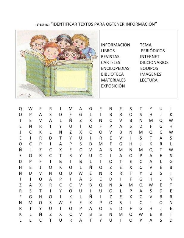 Sopa de letras de español