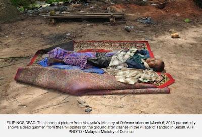 Mayat Pengganas Sulu Di Tembak Mati