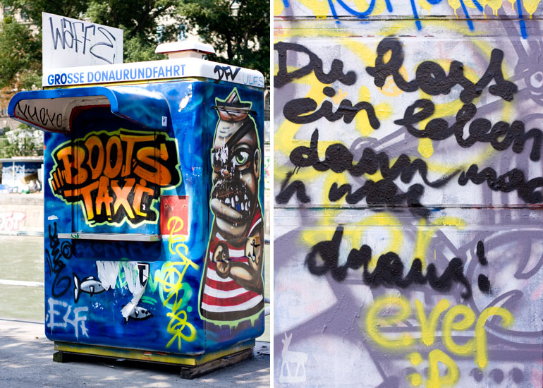Graffitis Donaukanal