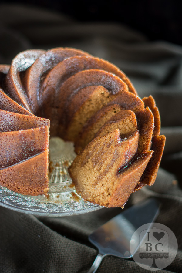 Honey Bundt Cake with lemon honey glaze