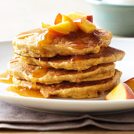 My Favorite Things: Spiced Peach Pancakes and Chai Syrup