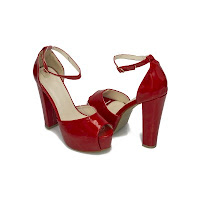 Sandale cu platforma Modlet, rosii, din colectia Solarium