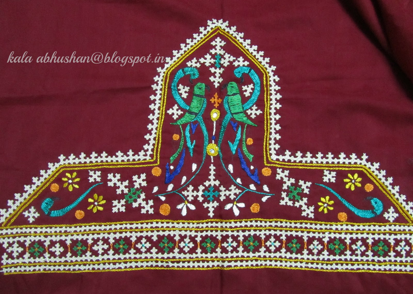 Art In Beads And Threads And More............. The Beauty Of Indian Embroidery - Kutchwork!