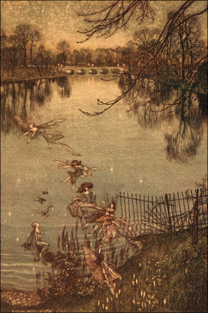 Arthur Rackham 'Along the Serpentine'