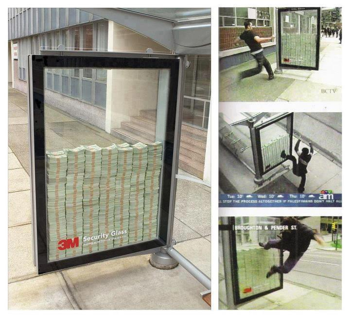 Million Dollars In Glass Bus Stop