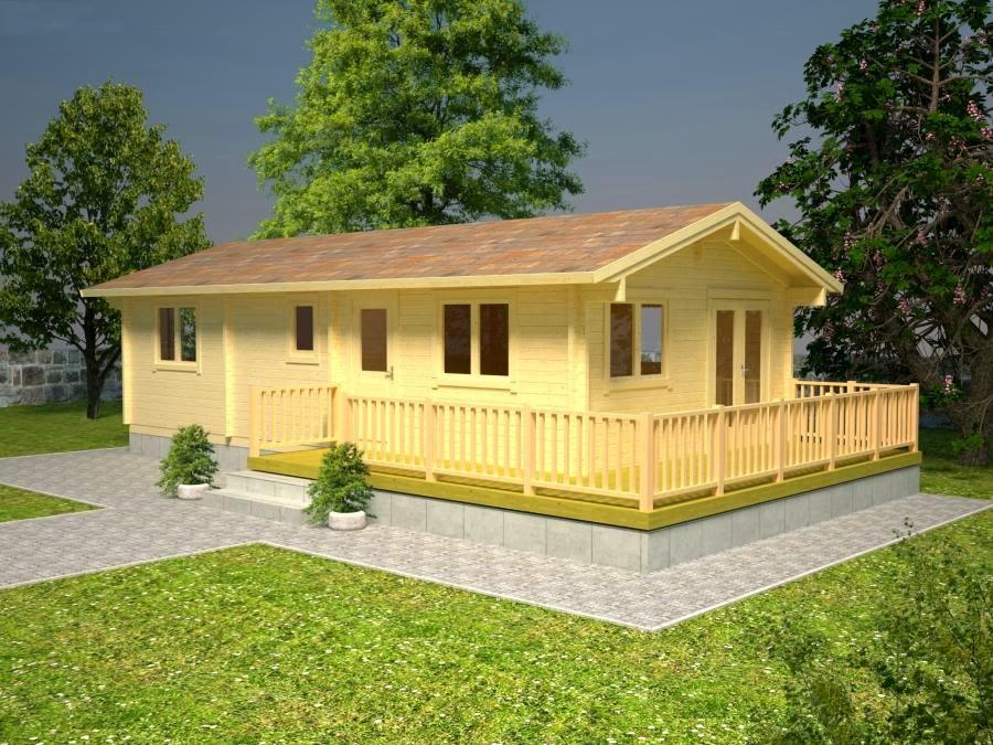 Casas de madera baratas bungalow de madera con terraza molly2 for Casetas jardin baratas