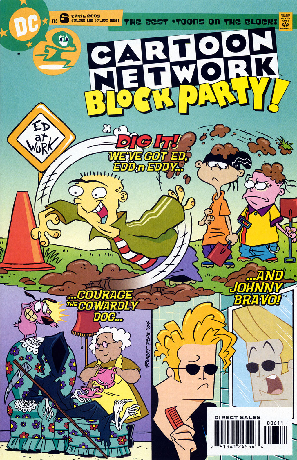 COURAGE COWARDLY DOG Comic # 33 Johnny Bravo SOLD OUT