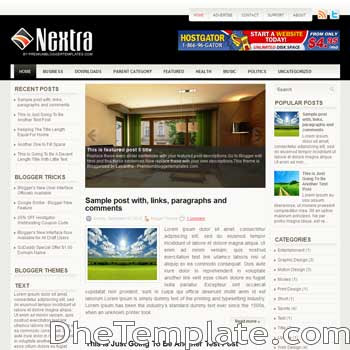 Nextra blog template. magazine blogger template style. magazine style template blogspot. 3 column blogspot template