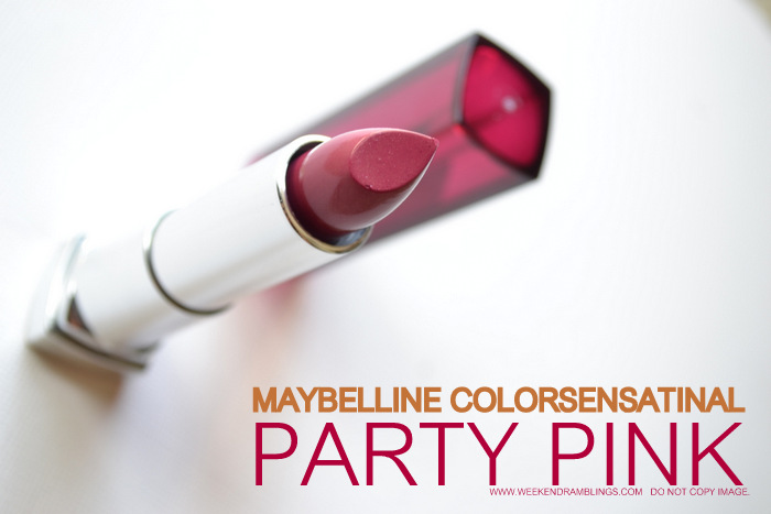 Maybelline Makeup Color Sensational Party Pink Lipstick Beauty Blog Reviews Swatches FOTD Indian Darker Skin