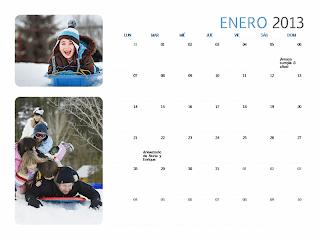 Calendario fotográfico mensual 2013