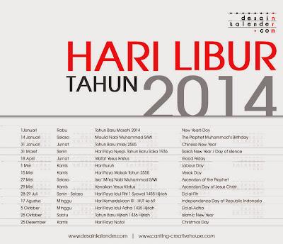 kalender hari libur tanggal merah 2014