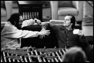 Stanley Kubrick (1928-1999) con Jack Nicholson
