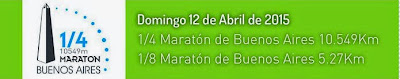 1/4 y 1/8 Maratón de Buenos Aires (10,5k y 5,27k - ARG, 12/abr/2015)