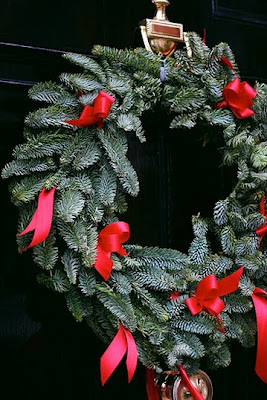 Door Wreath, Christmas Wreath, Evergreen Christmas Wreath, Chris J Photography