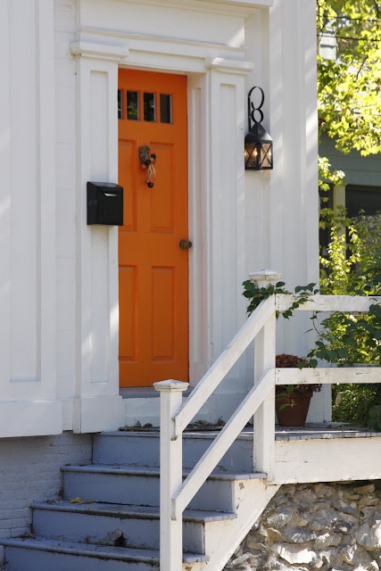 photo of orange door entry
