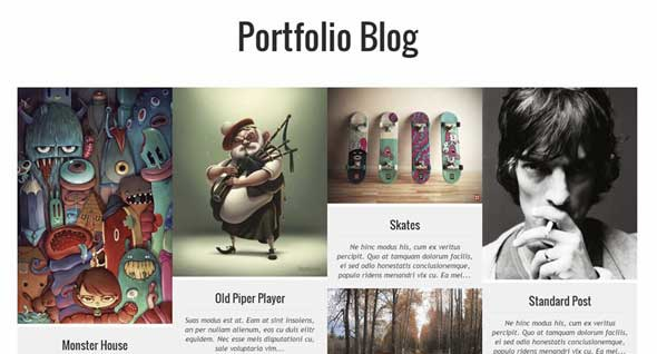 Luna Folio Blog Theme