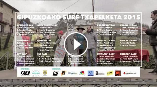 GIPUZKOAKO SURF TXAPELKETA 2015