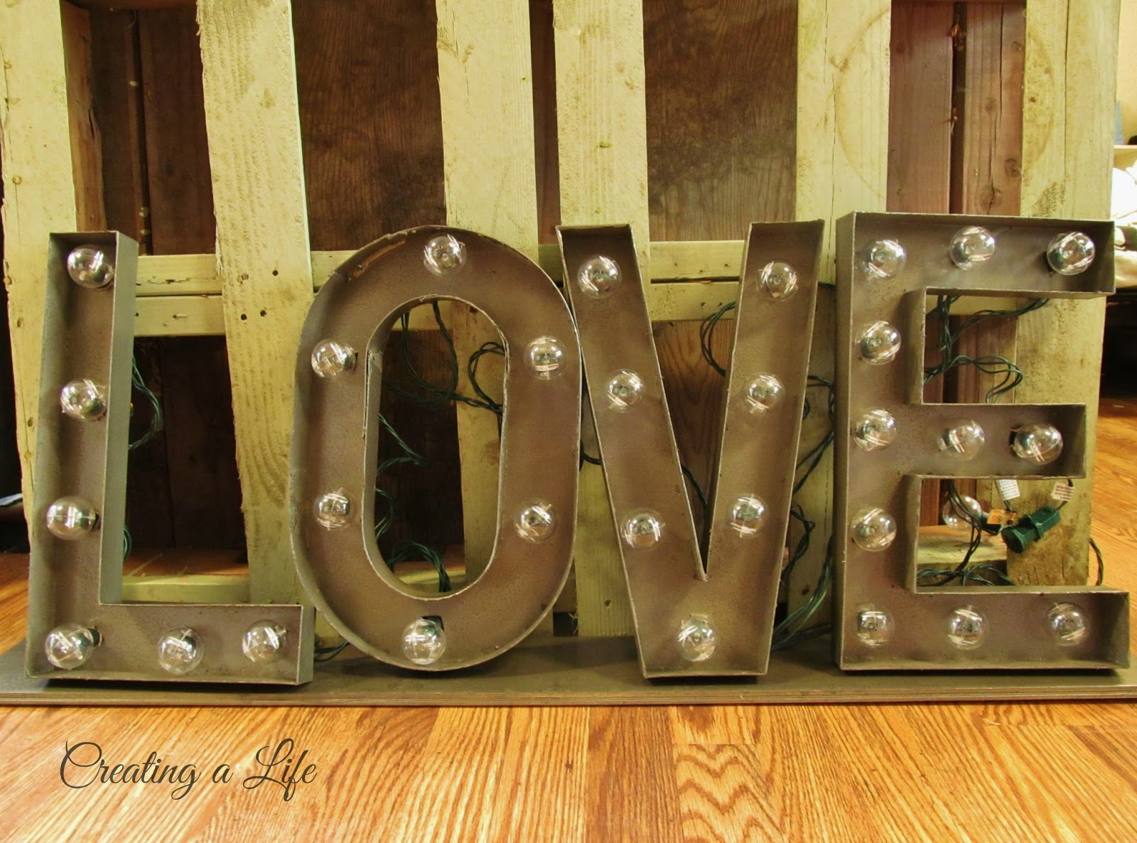 Lighted Metal Initials Large Metal Letters  Home Design
