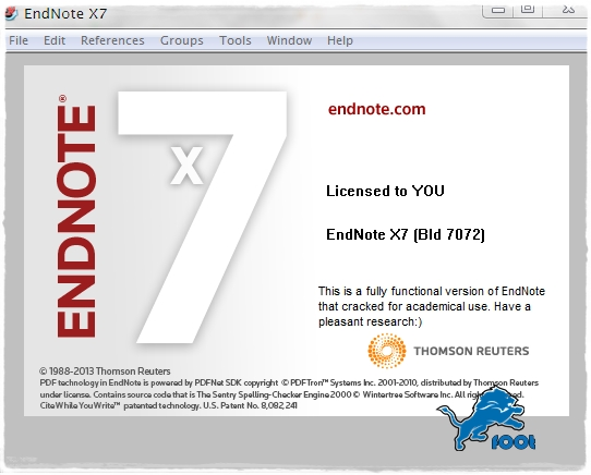 EndNote X7 Build 7072 Windows Full Version