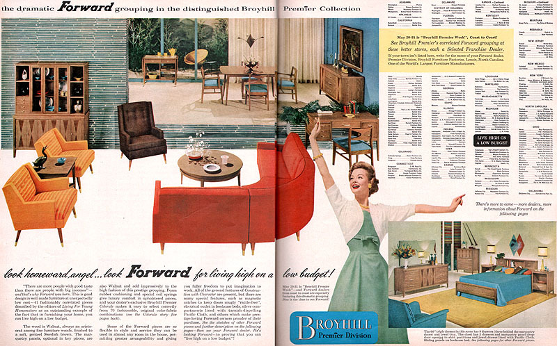 Etonnant Vintage Broyhill Premier Furniture Brochure