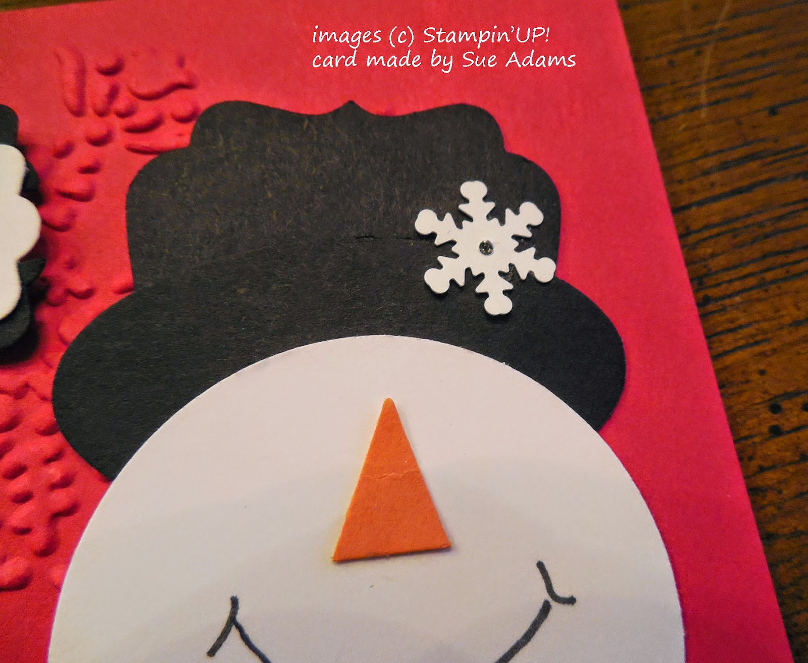 Punch Art Hat for the snowman