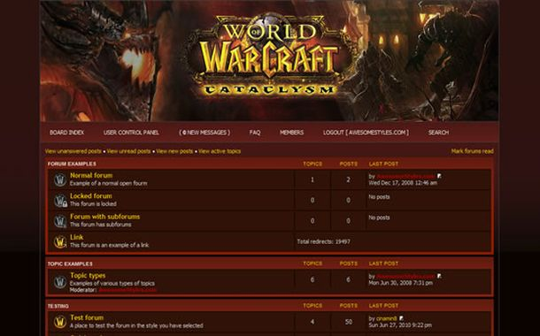 Free Vintage WOW Games Php-fusion Style Theme