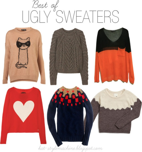 chunky knits and kooky sweaters